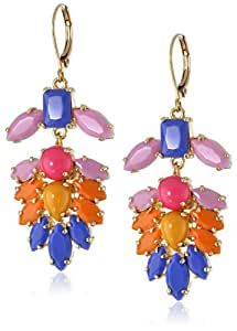 "Carolee ""Rio Radiance"" Floral Chandelier Earrings"