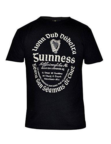 guinness-mens-black-distressed-gaelic-label-tee-black-xl