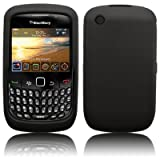 GreyMobiles Smoke Black Silicone Skin Case For BlackBerry 8520 & 9300 3G Curve