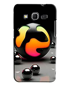 Clarks Metaillic Balls Hard Plastic Printed Back Cover/Case For Samsung Galaxy Core Prime