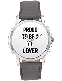 Wrist Watch For Men - Proud To Be A Tt Lover Best Gift For TT LOVER - Analog Men's And Boy's Unique Quartz Leather...