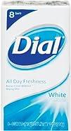 Dial Antibacterial Deodorant Soap Unisex White 8 Count