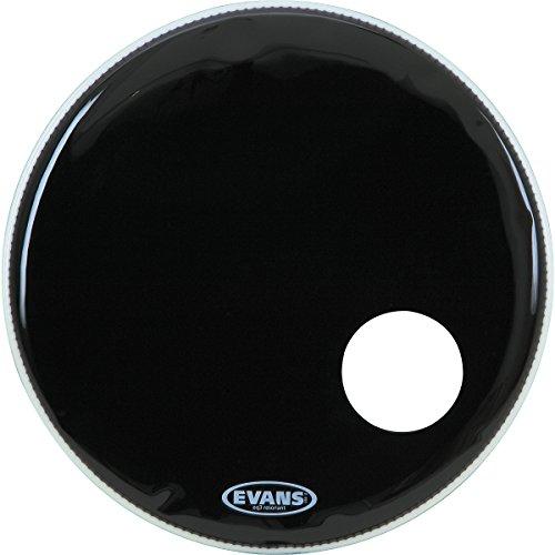 Evans Eq3 Resonant Black Bass Drum Head, 20 Inch