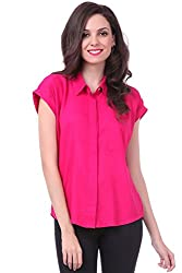 Sassafras Women's Shirt (SFSHRT2004M_Pink_Medium)