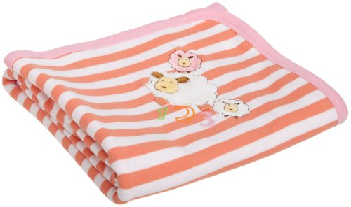 Absorba Baby-Girls Newborn Tender Touch Blanket, Salmon, One Size