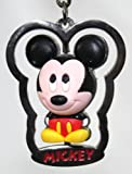 Disney Parks Mickey Mouse Metal Keychain with Rubber Spinning Mickey (comes sealed) - Disney Parks Exclusive