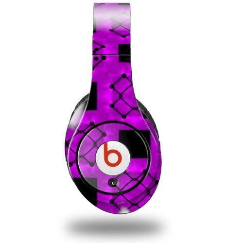 Criss Cross Purple Decal Style Skin (Fits Original Beats Studio Headphones - Headphones Not Included)