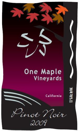 2009 One Maple Winery Pinot Noir 750 Ml