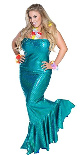 Delicate Illusions Plus Size Ocean Nymph Mermaid Womens Halloween Costume
