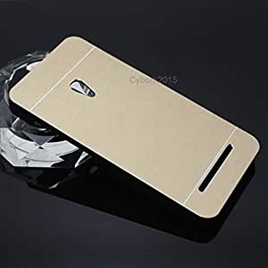 GVC Luxury Brushed Metal Motomo Back Case Cover for Asus Zenfone 5 A501CG - GOLD