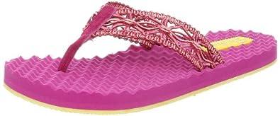 Skechers Women's Works-Sea Breeze Thong Sandal,Fuchsia,5 M US