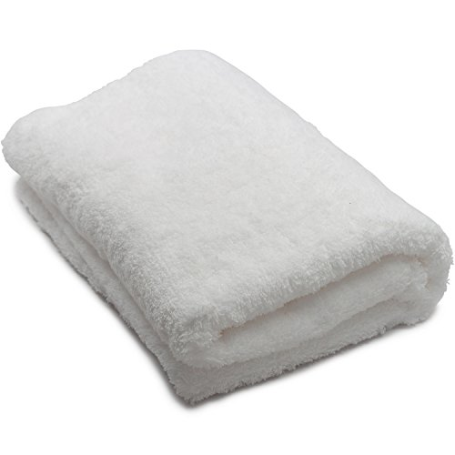 Oversized Luxury Bath Towel, Egyptian Cotton, White, Ultra