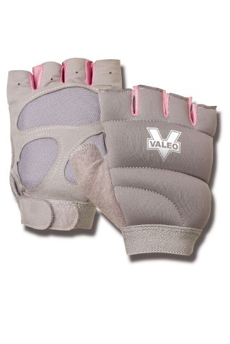 Valeo Womens Weighted Power Gloves (Gray, one Size)