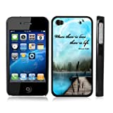 Mahatma Gandhi Quote Nature BLACK Snap-On iPhone Cover Carrying Hard Plastic Case for iPhone 4/4S
