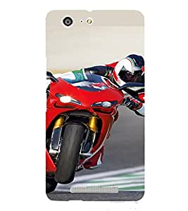 PrintVisa Sports Bike Design 3D Hard Polycarbonate Designer Back Case Cover for Gionee Marathon M5