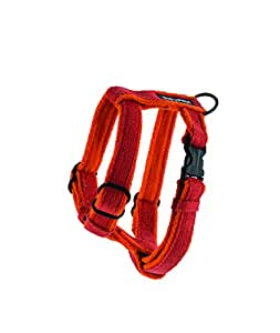 Planet Dog Cozy Hemp Adjustable Harness, Orange, Medium