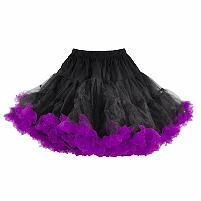 Hell Bunny Petticoat SWING SHORT black/purple bestellen