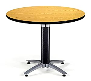 "OFM KMT42RD-GRYNB Round Multi-Purpose Table, Metal Mesh Base, 42"", Gray Nebula"