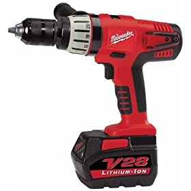 Milwaukee 0724-24 28-Volt V28 Lithium-Ion 1/2-Inch Cordless Hammer Drill/Driver Kit
