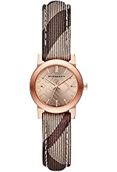 Burberry The City Collection - Rose Gold Face Nova Check Strap Womens Watch bu9236