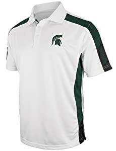 Michigan State Spartans NCAA Bracket Performance Polo Shirt - White by Colosseum