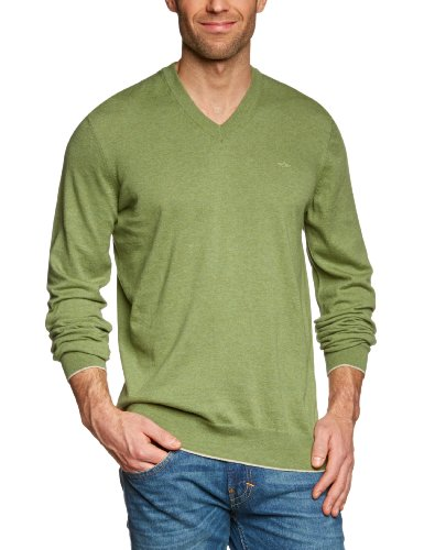 Dockers Fine Gauge V-Neck Men's Jumper Melange Small