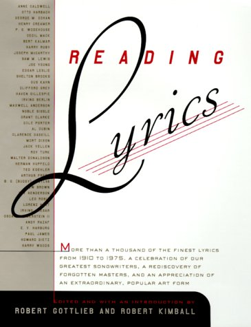 Reading Lyrics: More Than 1,000 of the Century