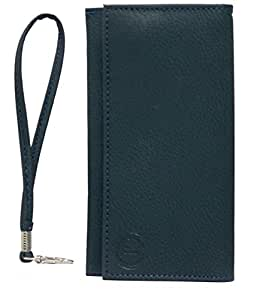 Jo Jo A5 G8 Leather Wallet Universal Pouch Cover Case For Motorola DROID RAZR MAXX HD Dark Blue