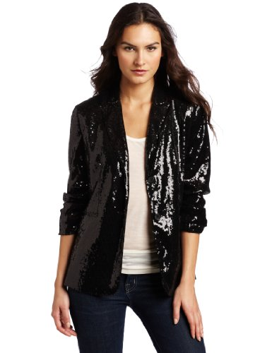 f62a4d63f932 ☆ 1 Calvin Klein Women s Two Button Sequin Jacket☆
