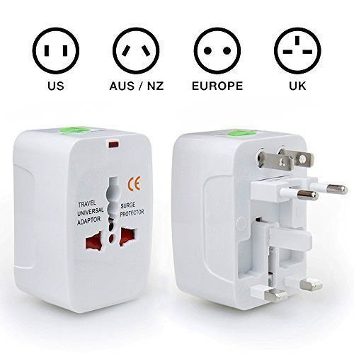 Mobarn 4IN1 Surge Protector Universal Travel Wall Charger AC Power AU UK US EU Plug Adapter