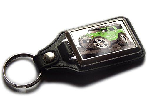 hummer-h2-4-x-4-suv-auto-premium-koolart-leder-und-chrom-schlusselanhanger-wahlen-sie-eine-farbe-gru