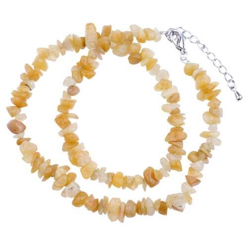 Pugster Special Semi Precious Chip Stone Necklace Gift Center