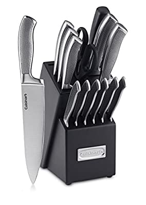 Cuisinart 15-Piece Stainless Steel Hollow Handle Block Set, C77SS-15PK