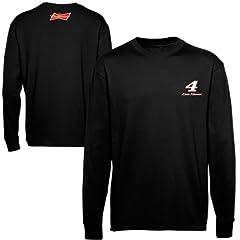 NASCAR Kevin Harvick #4 Black Long Sleeve Cool Running T-Shirt by Checkered Flag