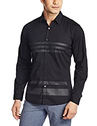 Wrangler Mens Casual Shirt (8907222643911_W1497036701Z_Large_Black)