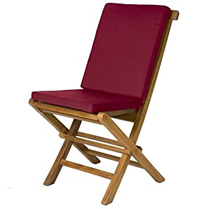 2 Folding Chair Cushions MAROON Patio Furniture Cushions P