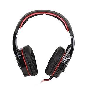 SADES SA-901 【ゲーミング ヘッドセット】 高音質 重低音 USB接続 マイク付   ヘッドホン  ヘッドバンド 高集音性マイク付  7.1ch サラウンドサウンド ステレオ 両耳オーバーヘッド ブラック