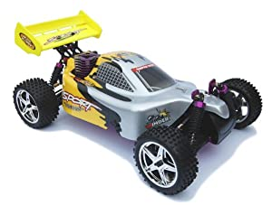 Radio Controlled Buggy - HSP RC NITRO SIDEWINDER - 1/10 SCALE - 2 Speed 4WD Racing Buggy - 50mph