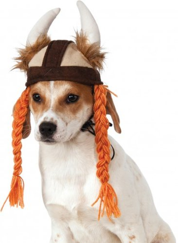 Rubies Costume Company Viking Hat with Braids for Pets, Small/Medium