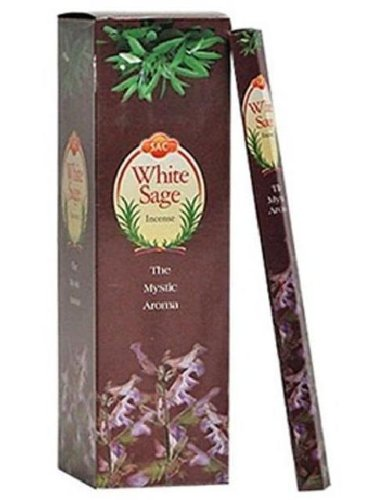 JBJ Sac White Sage Incense, 120-Sticks