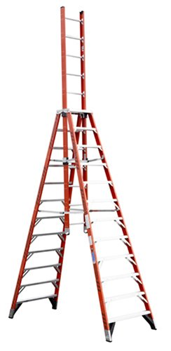 Werner E7412 300-Pound Duty Rating Fiberglass Extension Trestle Ladder, 12-Foot