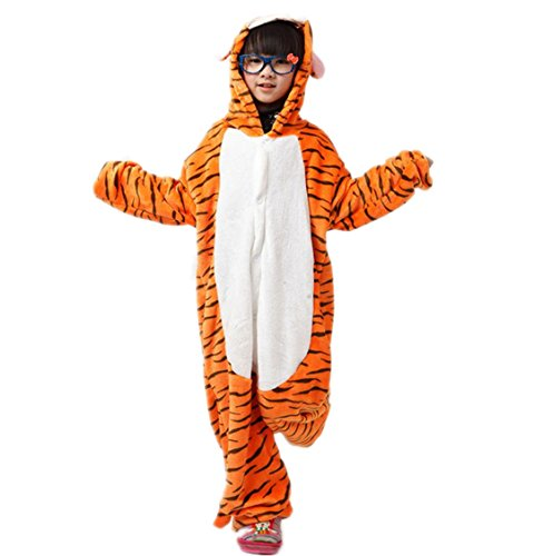 Autek Children Kid Baby Cute Animal Unisex Onesie Fancy Dress Costume Hoodies Pajamas Sleep Wear Tiger Tigger