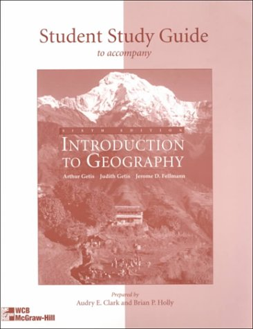 Introduction to Geography: Student Study Guide