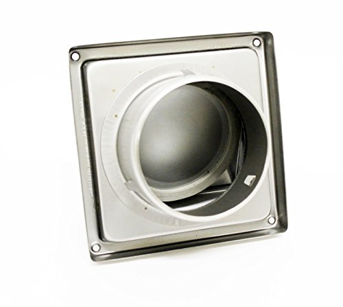 100MM 4 Inch Stainless Steel Cowled Outlet Wall Vent with Non Return Flap (2)
