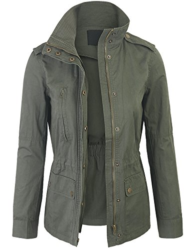 Kogmo-Womens-Military-Anorak-Safari-Jacket-with-Pockets