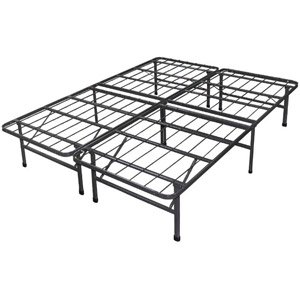 Best Spa Sensations Steel Smart Base Bed Frame Black Size Queen
