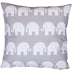 Dekokissen Kissenbezug Kissen 80cm x 80cm Elefant grau