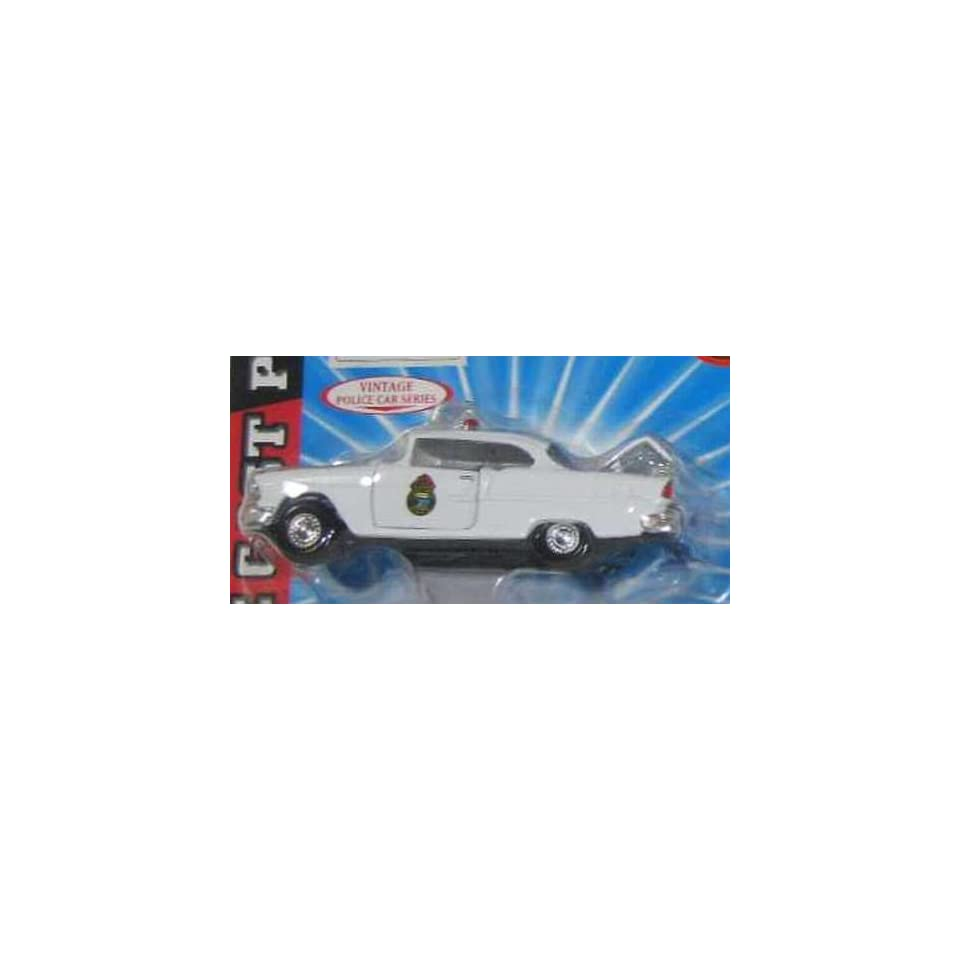 ALASKA TERRITORIAL POLICE Road Champs 1955 Chevy Bel Air Cruiser Police Series Die Cast Car 143 Scale