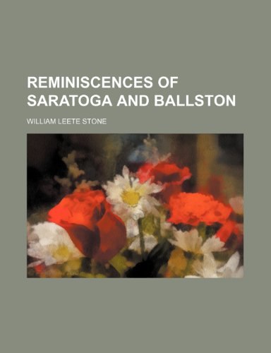 Reminiscences of Saratoga and Ballston