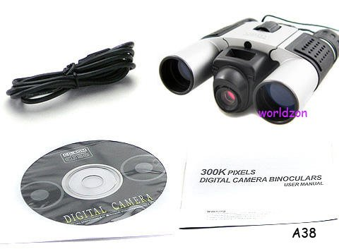 Hiyadeal4 In 1 Binoculars Built-In Digital Camera Video Camcorder Pc Camera + Neck Strap